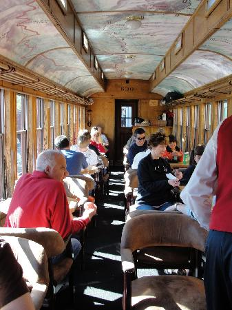 Passengers on the Prospector Car