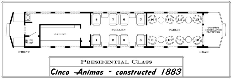 cinco_layout durango train cars and classes of service gateway reservations