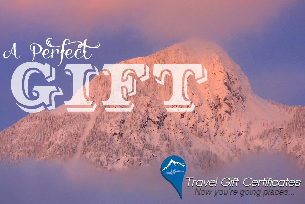 Travel Gift Certificates Good For Any Lodging Activity Or Package