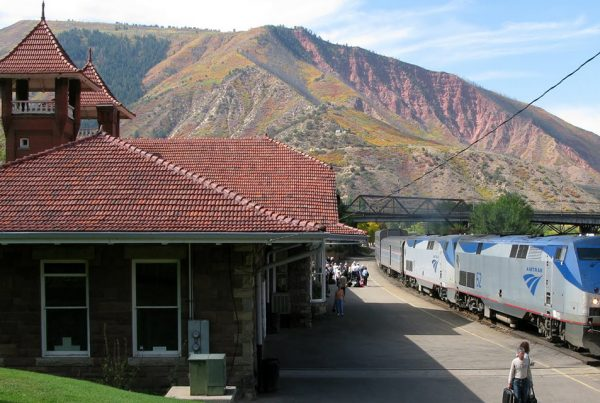 Glenwood Springs Amtrak Train