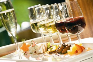 Wine Glasses with Appetizers
