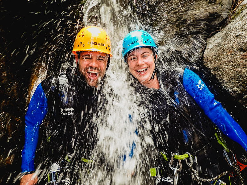 You can't help but smile on an adventure with Canyoning Colorado.