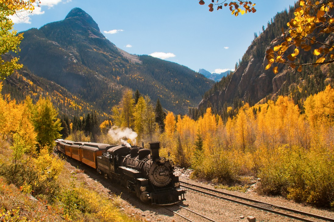 fall colors, durango train