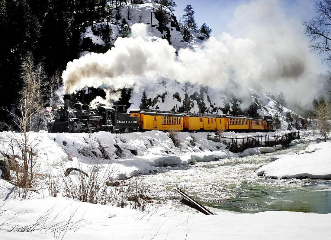 Durango Cascade Canyon Winter Train