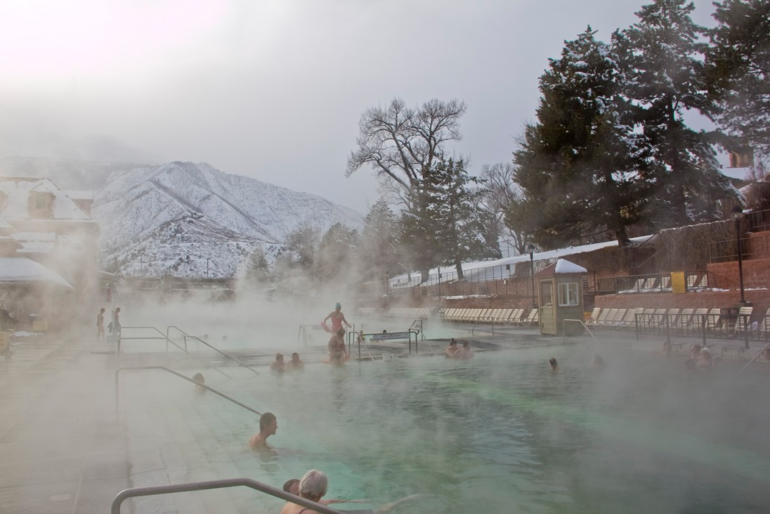 Glenwood Hot Springs Pool in Winter