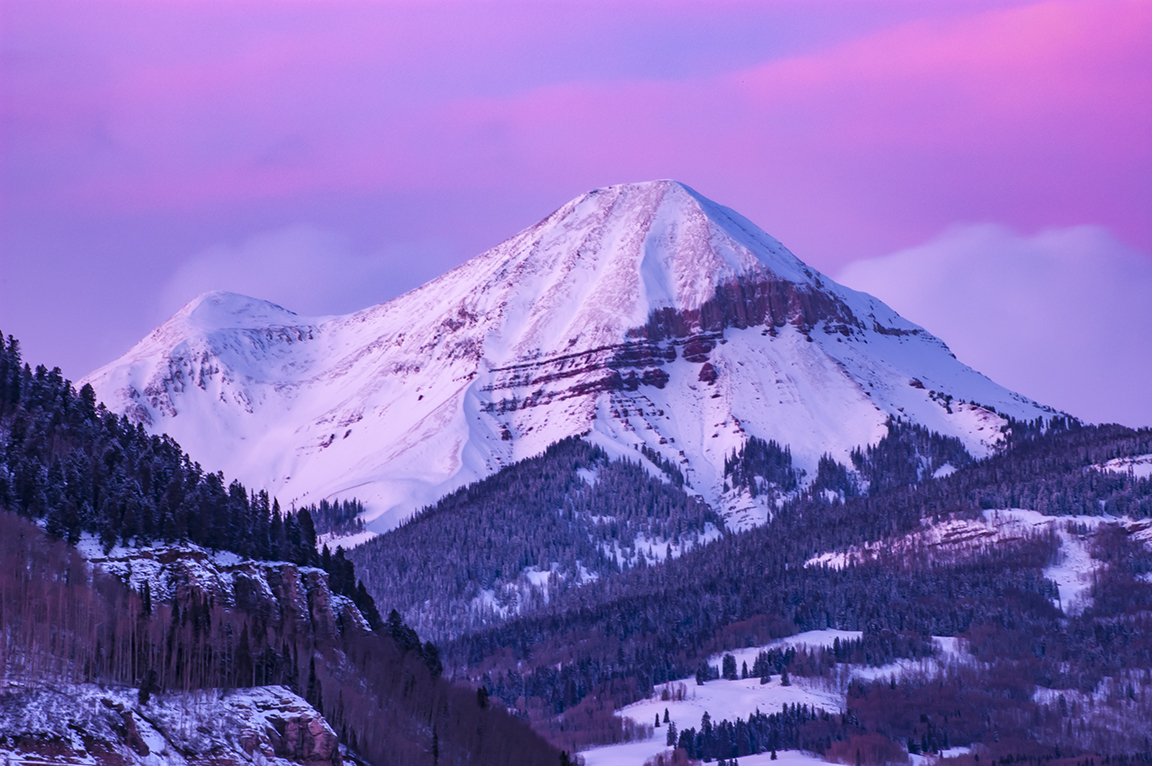 Engineer Peak Winter Alpenglow Durango