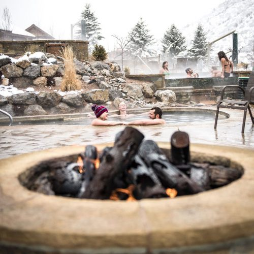 Iron Mountain Hot Springs in Winter