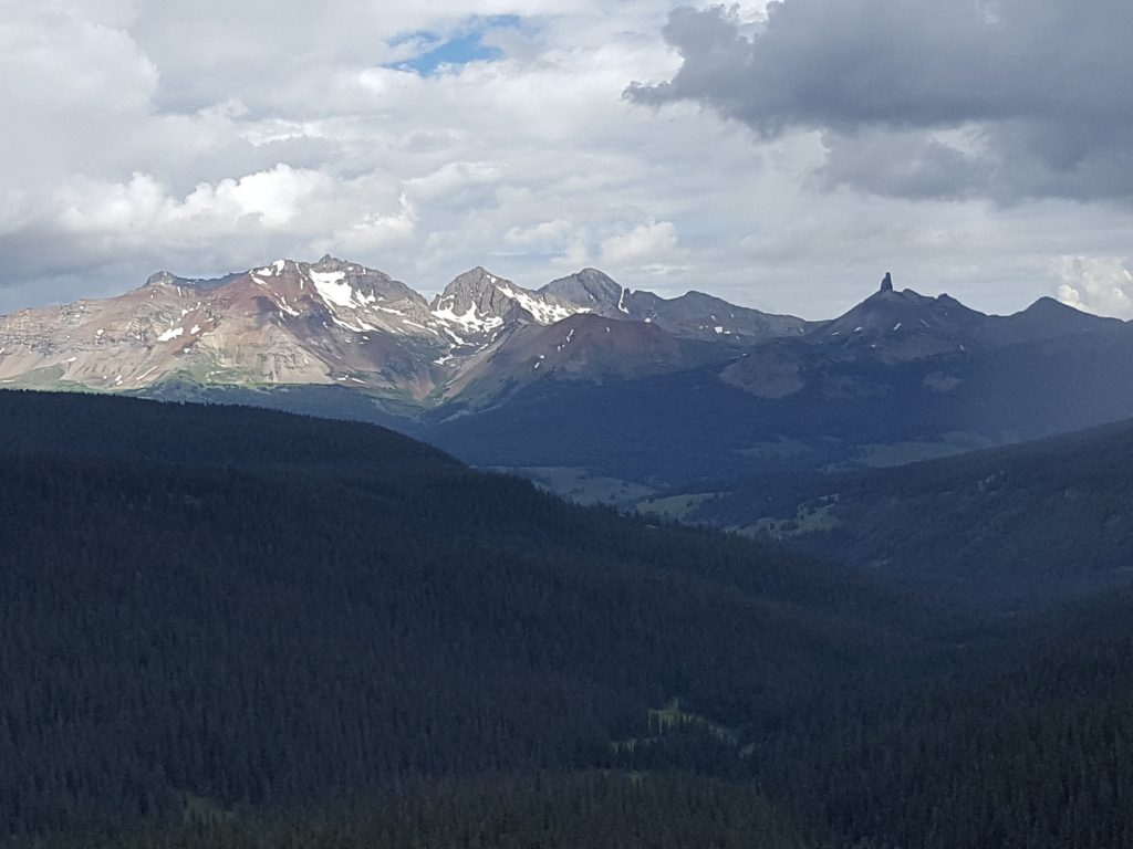View of the San Juans from Purgatory Four Wheeling Roads in Durango, Colorado