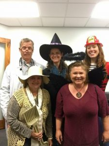 Gateway Reservations staff dressed up for Halloween