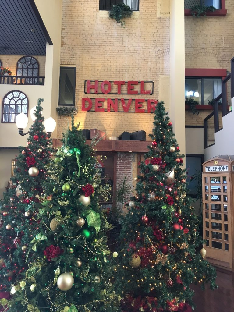 Hotel Denver Christmas Decor