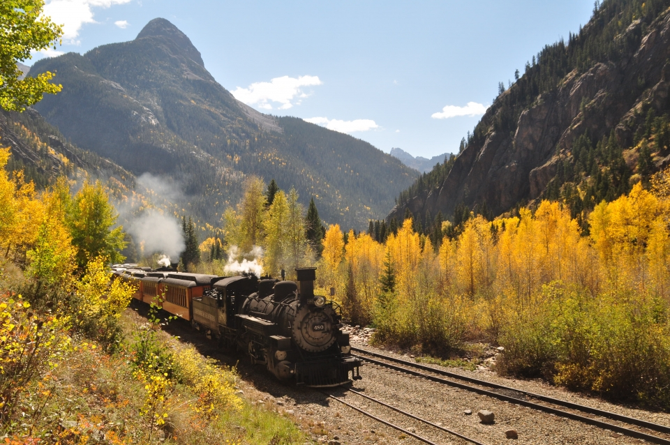 Durango Train in Fall